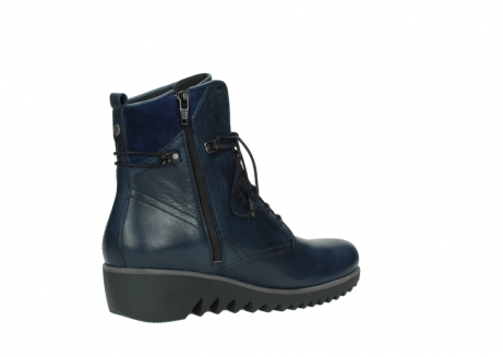 wolky bottines a lacets 03812 rusty 20800 cuir bleu_11