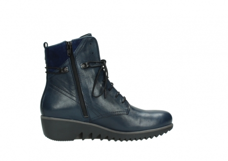 wolky bottines a lacets 03812 rusty 20800 cuir bleu_13