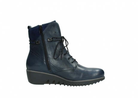 wolky bottines a lacets 03812 rusty 20800 cuir bleu_14
