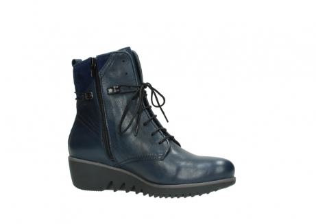 wolky bottines a lacets 03812 rusty 20800 cuir bleu_15