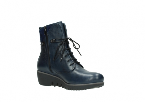 wolky bottines a lacets 03812 rusty 20800 cuir bleu_16