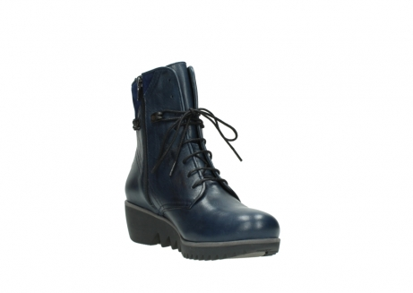 wolky bottines a lacets 03812 rusty 20800 cuir bleu_17