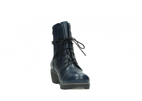 wolky bottines a lacets 03812 rusty 20800 cuir bleu_18