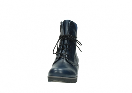 wolky bottines a lacets 03812 rusty 20800 cuir bleu_20