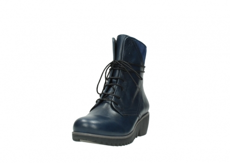 wolky bottines a lacets 03812 rusty 20800 cuir bleu_21