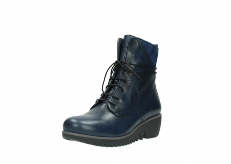 wolky bottines a lacets 03812 rusty 20800 cuir bleu_22