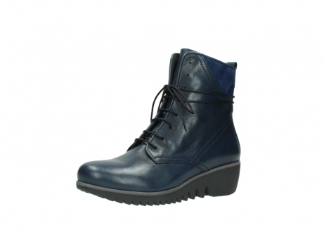 wolky bottines a lacets 03812 rusty 20800 cuir bleu_23