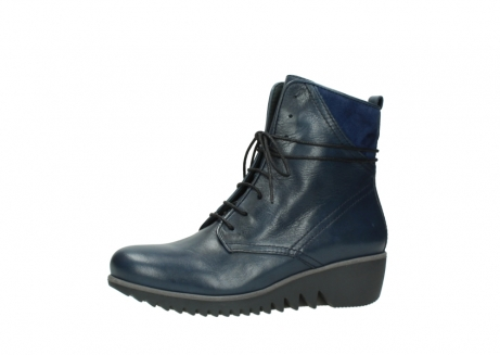 wolky bottines a lacets 03812 rusty 20800 cuir bleu_24