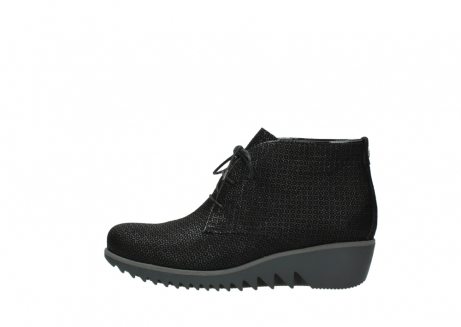 wolky lace up boots 03818 dusky winter 90003 black printed suede_1