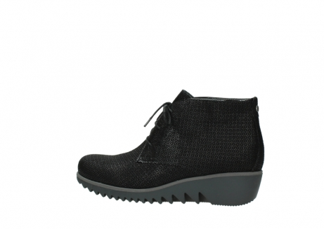 wolky lace up boots 03818 dusky winter 90003 black printed suede_2