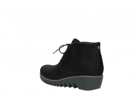 wolky lace up boots 03818 dusky winter 90003 black printed suede_4