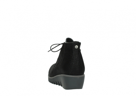 wolky lace up boots 03818 dusky winter 90003 black printed suede_6