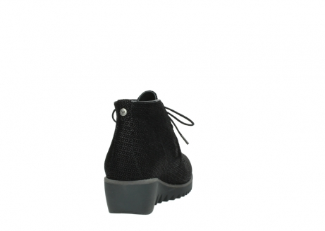 wolky lace up boots 03818 dusky winter 90003 black printed suede_8