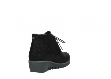 wolky lace up boots 03818 dusky winter 90003 black printed suede_9