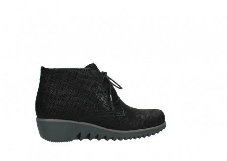wolky lace up boots 03818 dusky winter 90003 black printed suede_12