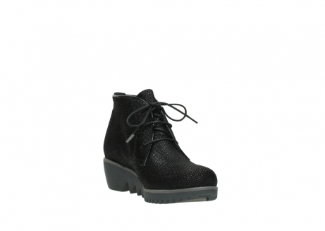 wolky lace up boots 03818 dusky winter 90003 black printed suede_17