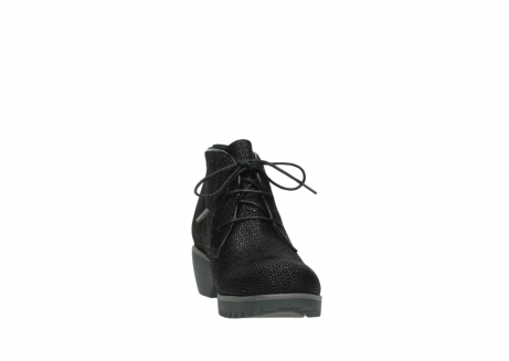 wolky lace up boots 03818 dusky winter 90003 black printed suede_18