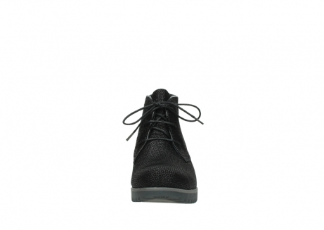 wolky lace up boots 03818 dusky winter 90003 black printed suede_19