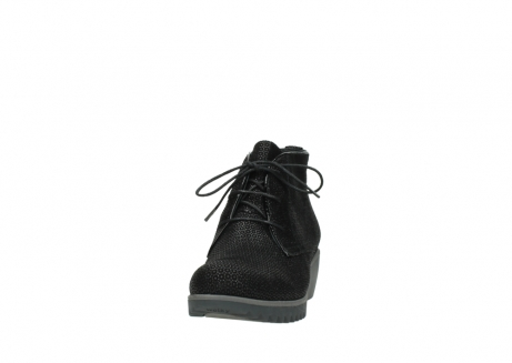 wolky lace up boots 03818 dusky winter 90003 black printed suede_20