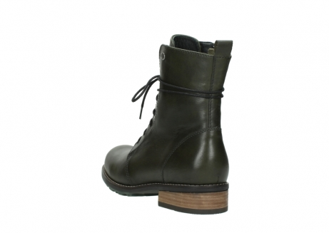 wolky mid calf boots 04438 murray cw 20730 forest green leather cold winter warm lining_5