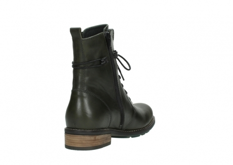 wolky mid calf boots 04438 murray cw 20730 forest green leather cold winter warm lining_9