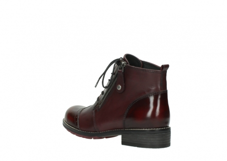 wolky lace up boots 04440 millstream 39510 burgundy combi leather_4