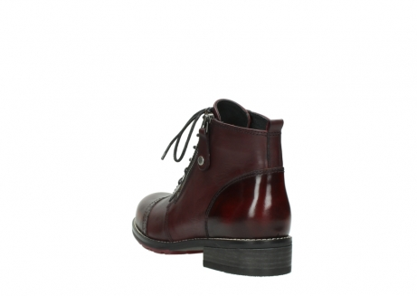 wolky lace up boots 04440 millstream 39510 burgundy combi leather_5