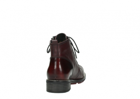 wolky lace up boots 04440 millstream 39510 burgundy combi leather_8