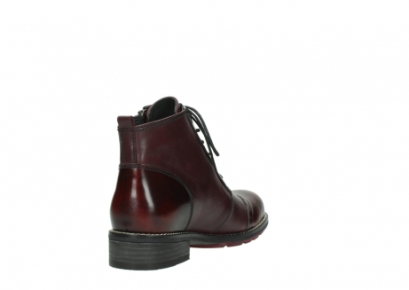 wolky lace up boots 04440 millstream 39510 burgundy combi leather_9