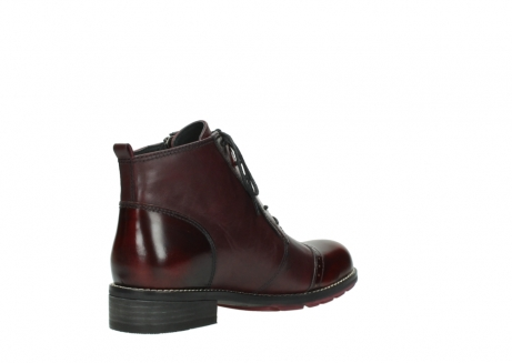 wolky lace up boots 04440 millstream 39510 burgundy combi leather_10
