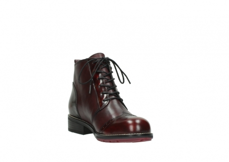 wolky lace up boots 04440 millstream 39510 burgundy combi leather_17