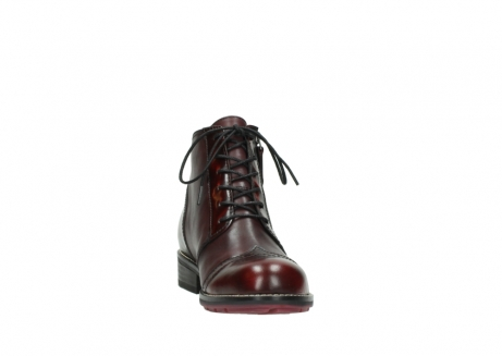 wolky lace up boots 04440 millstream 39510 burgundy combi leather_18