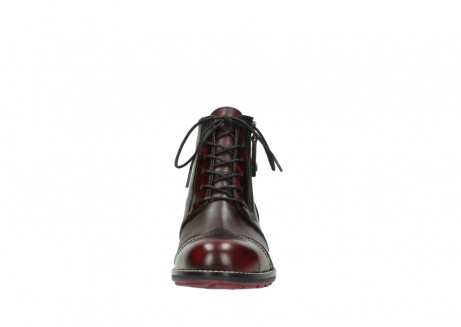 wolky lace up boots 04440 millstream 39510 burgundy combi leather_19