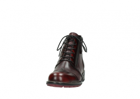 wolky lace up boots 04440 millstream 39510 burgundy combi leather_20