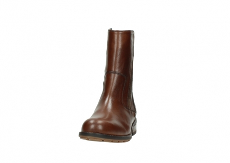 wolky mid calf boots 04441 russell 20430 cognac leather_20