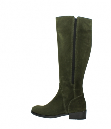 wolky high boots 04513 earl 40730 forest green suede_2