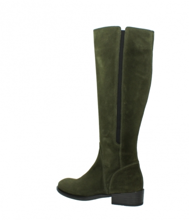 wolky high boots 04513 earl 40730 forest green suede_3