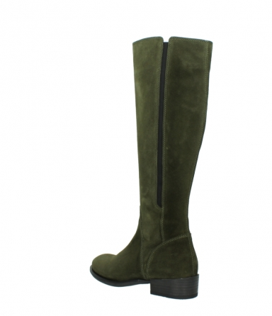wolky high boots 04513 earl 40730 forest green suede_4
