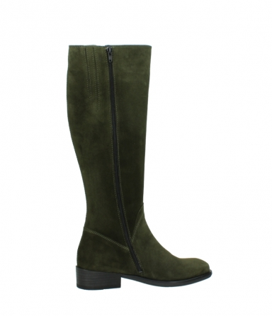 wolky high boots 04513 earl 40730 forest green suede_12