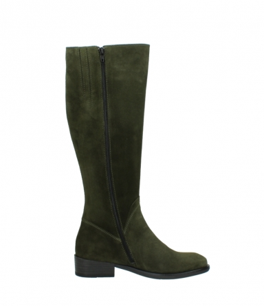 wolky high boots 04513 earl 40730 forest green suede_13