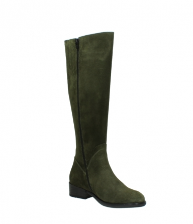 wolky high boots 04513 earl 40730 forest green suede_16