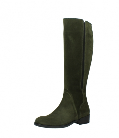 wolky high boots 04513 earl 40730 forest green suede_23