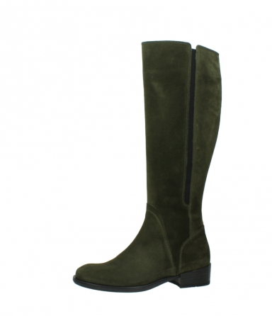 wolky high boots 04513 earl 40730 forest green suede_24