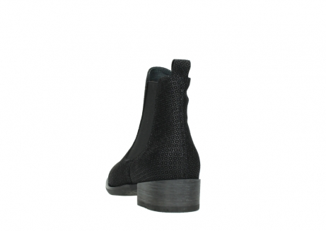 wolky ankle boots 04517 masala 90003 black printed suede_6
