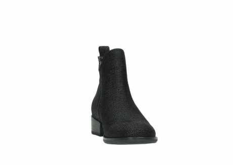 wolky ankle boots 04517 masala 90003 black printed suede_18