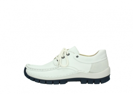 wolky lace up shoes 04701 fly 70108 white leather blue sole_1