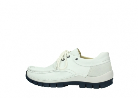 wolky lace up shoes 04701 fly 70108 white leather blue sole_2