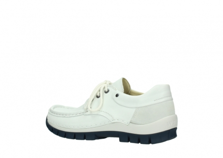 wolky lace up shoes 04701 fly 70108 white leather blue sole_3