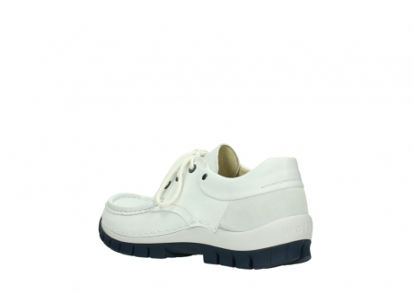 wolky lace up shoes 04701 fly 70108 white leather blue sole_4