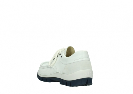wolky lace up shoes 04701 fly 70108 white leather blue sole_5